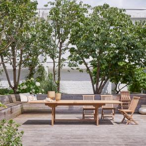 Mesa de Jardín Rectangular Teca 200 Capri