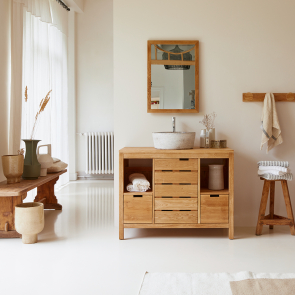 Meuble Salle de bain en chêne 100 Serena Oak