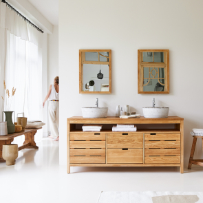 Meuble Salle de bain en chêne 165 Serena Oak