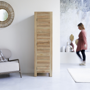 Minimalys Single Teak Wardrobe 180