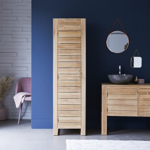 Minimalys Teak Bathroom Column Cupboard 180