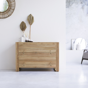 Minimalys Teak Chest of 2 Drawers