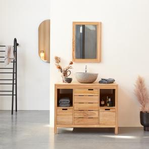 Mueble de lavabo de teca 100 Serena