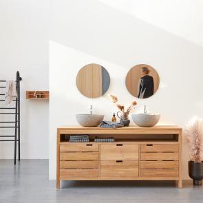 Mueble de lavabo de teca 165 Serena