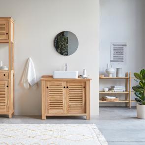 Mueble de lavabo de teca 95 Coline