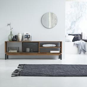 Mueble TV en teca y metal 170 Color Bebop black