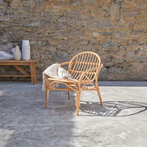 Outdoor Stuhl aus Rattan Mina natur