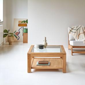 Perle Teak Coffee Table 80x80