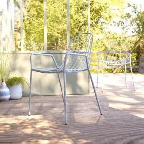 Poltrona da giardino in Metallo Arty bleu grey