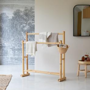 Porta asciugamani in bambù Balyss
