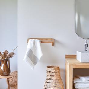 Porta asciugamani in Teak Kayu