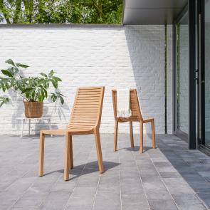 Sedia da giardino in teak Teo