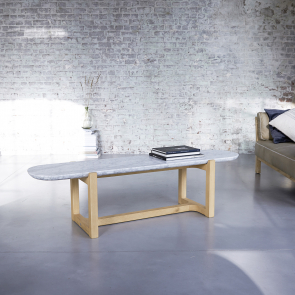 Stoneleaf Oak and Marble Coffee Table 170x45