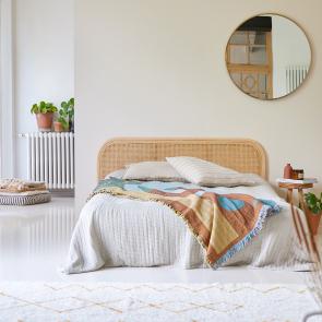 Tête de lit en rotin cannée 160 Joséphine