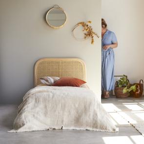 Tête de lit en rotin cannée 90 Joséphine