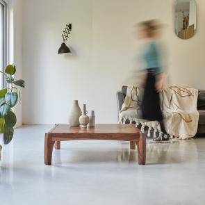 Table de salon 95x95 en palissandre Luna