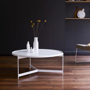 Tavolino in metallo happy white