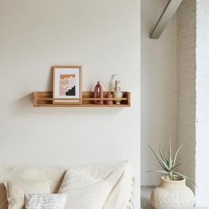Ugo Teak Wall Shelf 100