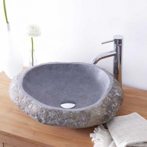 Vasque en pierre de rivière Galet Nobu