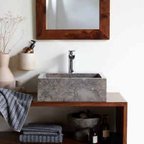 Waschbecken aus Marmor Slats grey