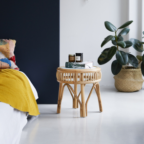 Zelie Rattan Bedside Table