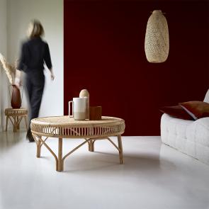Zita rattan coffee table 90