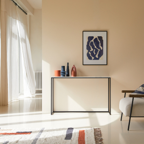 Jana 120 metal and marble side table