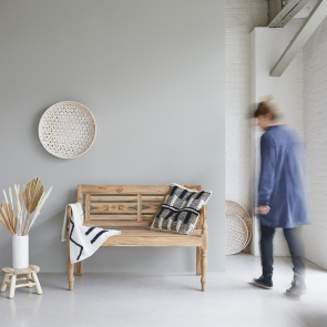 Marceau recycled teak bench 120