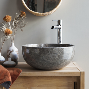 Mia Light Grey marble washbasin