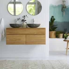 Mueble de baño suspendido de teca 120 Jacob