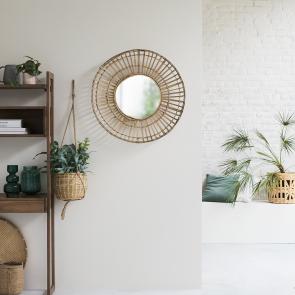Specchio in bambù 75 Dana