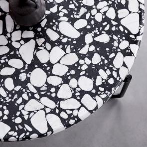 Unik metal and stone coffee table 80