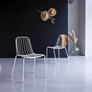 Arty Metal Chair White