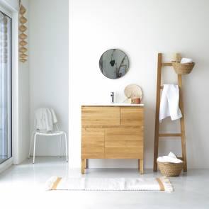 Easy Oak and Ceramic Vanity Cabinet 80