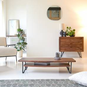 Mesa de centro en palisandro 110x60 Bonnie