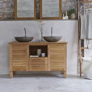Meuble Salle de bain en teck 125 Soho
