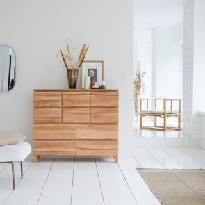 Milano Teak Chest of 10 Drawers