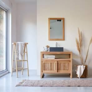 Mueble de lavabo de teca 90 Colonial