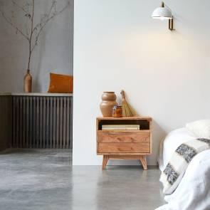 Oslo acacia Bedside Table