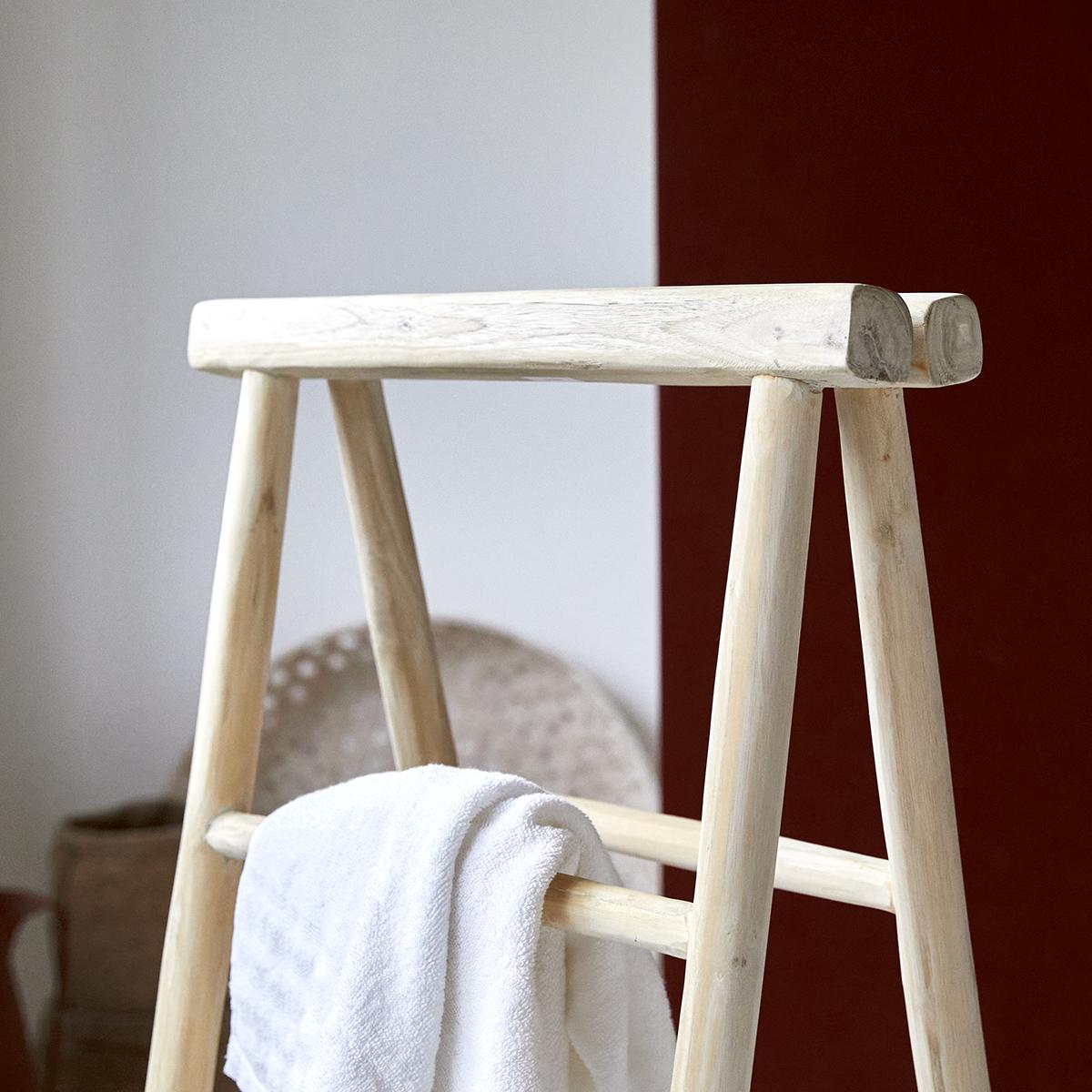 Teak Ladder Towel Rack 100 Cm Bathroom Accessory Tikamoon