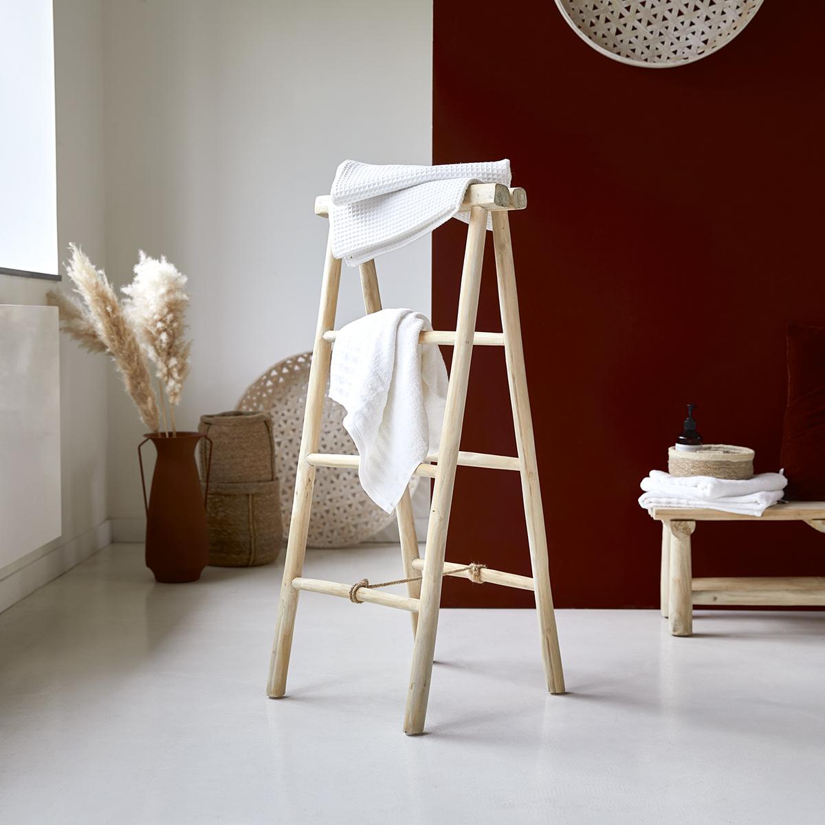 Leiter Handtuchhalter aus Teak 100 cm