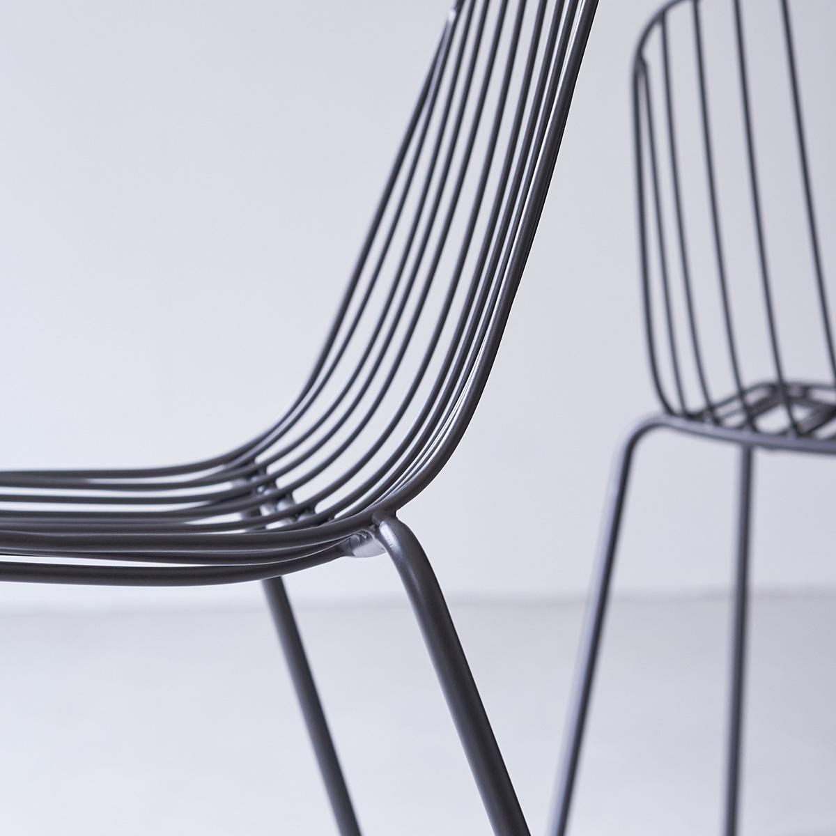 Metallstuhl In Dunkelgrau Verkauf Von Wohnzimmerstuhlen Auf Tikamoon