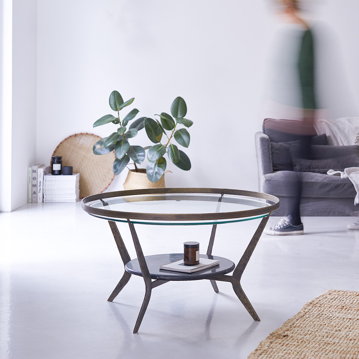 Table basse en marbre et métal 7 Ambre