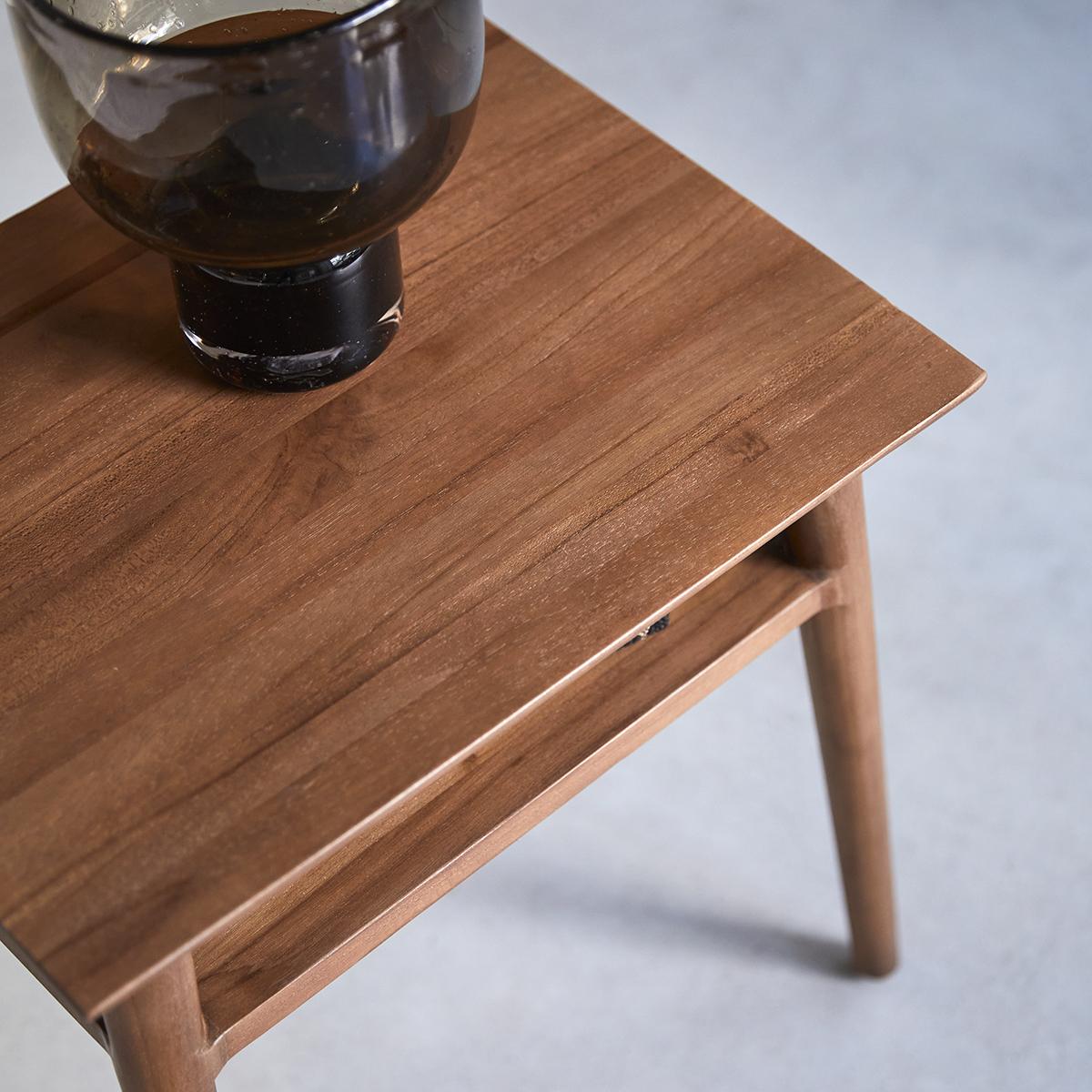 Picture of: Tikamoon Vintage Teak Side Table