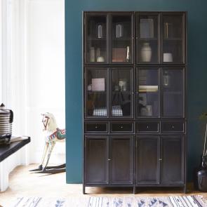 Anna Black Mahogany Display Cabinet 120