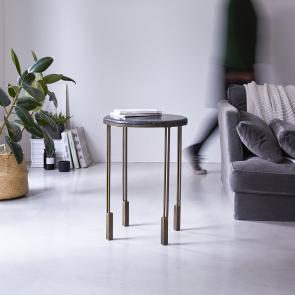 Bout de canapé en métal et marbre 40 Simëon