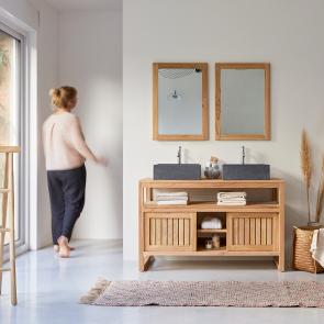 Mueble de lavabo de teca 120 Colonial